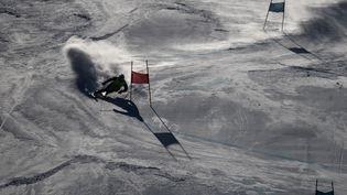 Un skieur descend une piste de Pyeongchang (Corée du Sud), le 4 février2018. (MICHAEL KAPPELER / DPA / AFP)