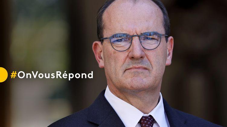 """#OnVousRépond : posez vos questions à Jean Castex, Premier ministre, invité de l'émission """"Vous avez la parole"""" jeudi 24 septembre. (THOMAS SAMSON / AFP)"""
