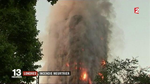 Londres : une tour d'habitation ravagée par les flammes, une nuit d'horreur