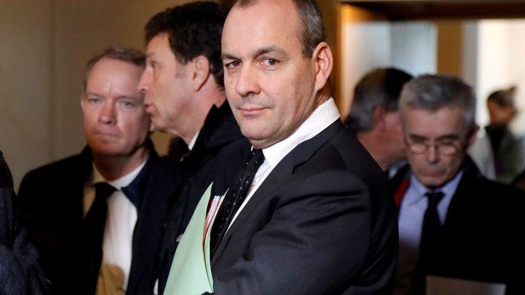 Laurent Berger, secrétaire général de la CFDT, lors des négociations sur la réforme des retraites, à Paris, le 30 janvier 2020. (CHARLES PLATIAU / POOL)