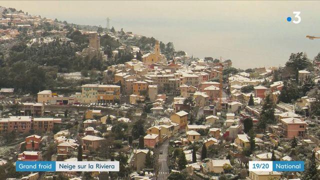 Grand froid : neige sur la Riviera