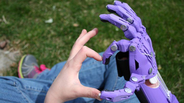 (Maxence reçoit aujourd'hui une prothèse semblable à celle-ci © Jen Martin Studios)