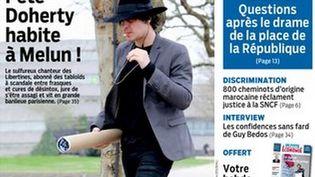 """La une de l'édition de la Seine-et-Marne du """"Parisien"""" du 21 septembre 2015. (LE PARISIEN)"""