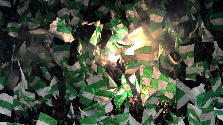 Les supporters deSaint Etienne ne feront pas le déplacement à Lyon (JEFF PACHOUD / AFP)