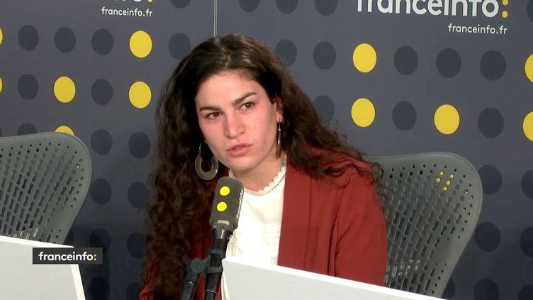 Marie Laguerre sur franceinfo le 30 août 2018. (FRANCEINFO / RADIOFRANCE)