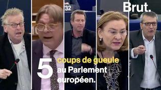 """VIDEO. """"Vous êtes des crétins finis !"""" : 5 échanges houleux au Parlement européen (BRUT)"""