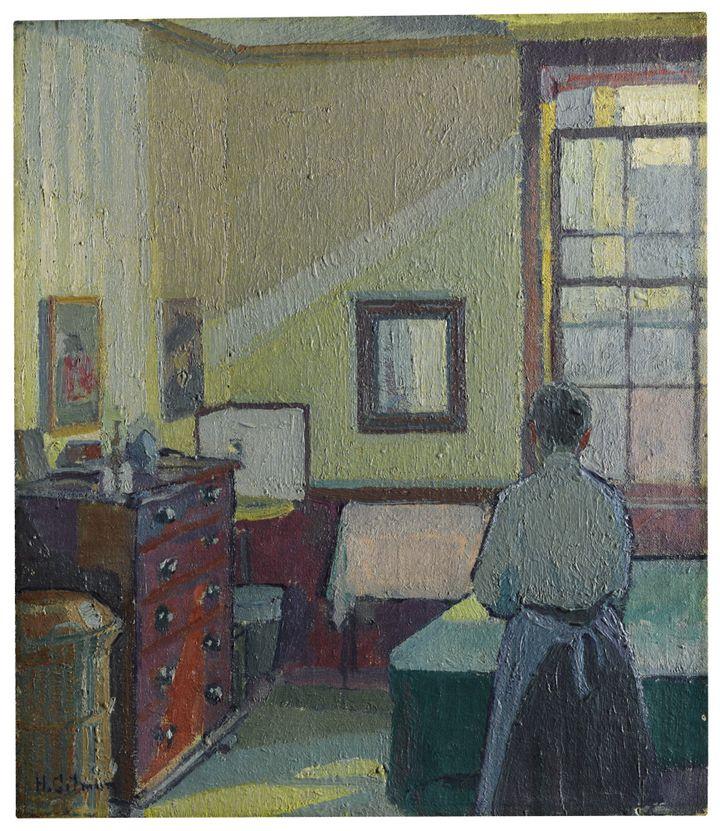 """""""Interior (Mrs Mounter)"""" de Harold Gilman, 1917 - Huile sur toile de la collection de David Bowie (estimée 150.000 à 250.000 livres)  (Sotheby's)"""