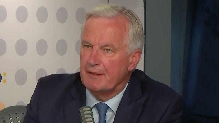Michel Barnier, candidat à la primaire de la droite et du centre pour l'élection présidentielle, était l'invité de franceinfo le 6 septembre 2021. (FRANCEINFO / RADIOFRANCE)