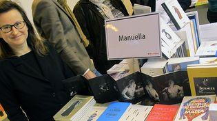 Manuella Vaney, éditrice de la maison Manuella Editions, au Salon du livre 2013  (Laurence Houot/Culturebox)