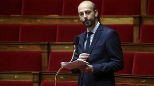 Stanislas Guérini s'exprime à l'Assemblée, à Paris, le 21 mars 2020. (LUDOVIC MARIN / AFP)