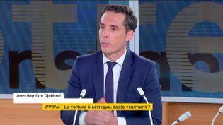 """Jean-Baptiste Djebbari, ministre délégué aux Transports, était l'invité de """"Votre instant politique"""", lundi 14 juin sur la chapine franceinfo. (FRANCEINFO)"""