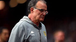 L'entraîneur de Leeds, Marcelo Bielsa, le 22 avril 2019. (IAN WALTON / MAXPPP)