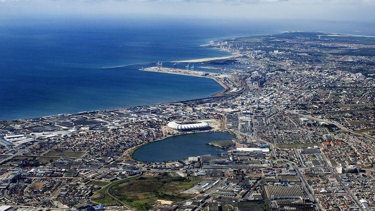 Vue aérienne de Port Elizabeth, en Afrique du Sud. (GIANLUIGI GUERCIA / AFP)