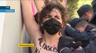 Des Femen en Espagne (FRANCEINFO)