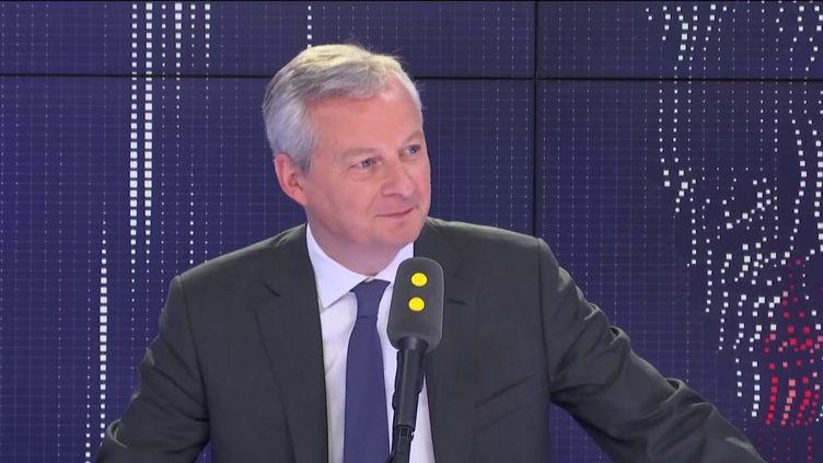Le ministre de l'Économie Bruno Le Maire, le 13 juin 2019. (RADIO FRANCE / FRANCEINFO)