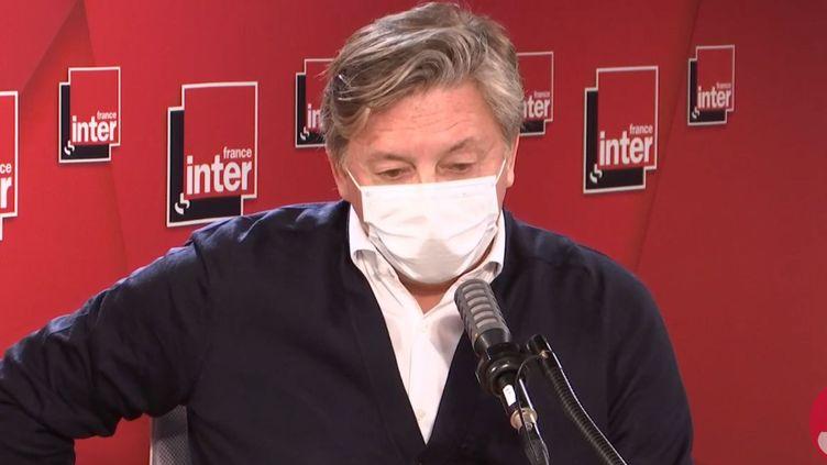 L'ancien patron de la chaîne Equidia, Éric Brion, sur France Inter le 12 octobre 2020. (FRANCE INTER / RADIO FRANCE)