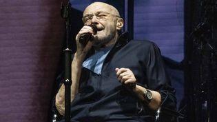 """Phil Collins sur scène avec Genesis lors du coup d'envoi de la tournée """"The Last Domino?"""" le 20 septembre 2021 à la Utilita Arena de Birmingham (Angleterre). (COVER IMAGES/SIPA / COVER IMAGES)"""