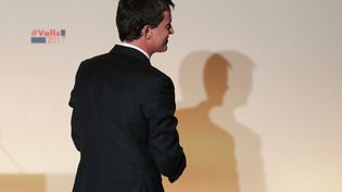 Manuel Valls, dimanche 29 février à la Maison de l'Amérique latine, à Paris. (CHRISTOPHE ENA / AP / SIPA)