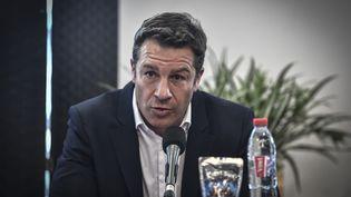 Thomas Lombard,directeur général du Stade Français Paris Rugby. (STEPHANE DE SAKUTIN / AFP)