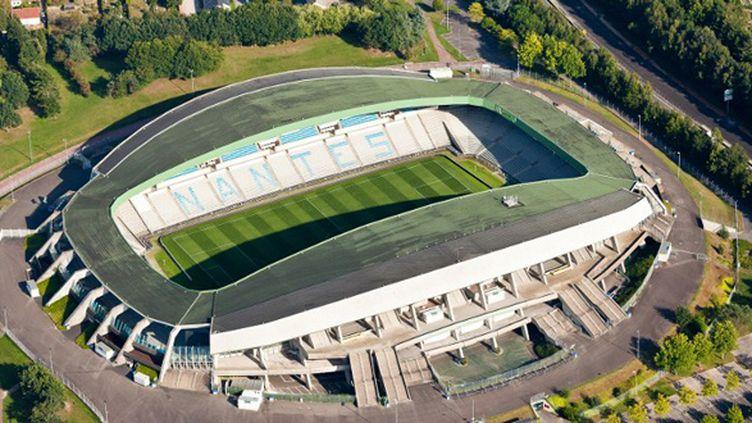 Vue aérienne du stade de la Beaujoire à Nantes