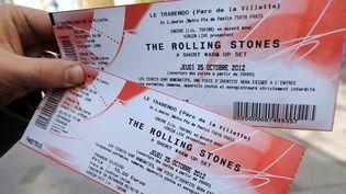 Tickets de concert pour les Rolling Stone, en 2012  (THOMAS SAMSON / AFP)