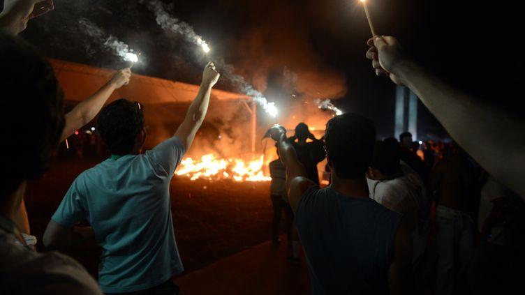 Manifestation à Brasilia (Brésil), le 20 juin 2013. (EVARISTO SA / AFP)