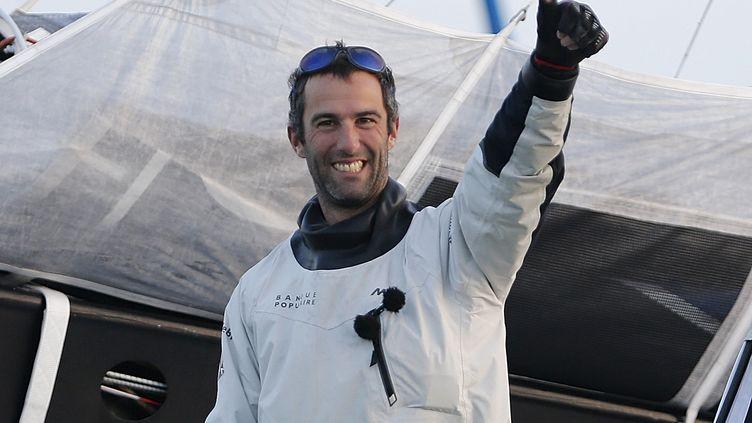 Leskipper français Armel Le Cleac'h arrivé aux Sables d'Olonne le 19 janvier 2017 après sa victoire auVendée Globe (REGIS DUVIGNAU / REUTERS)