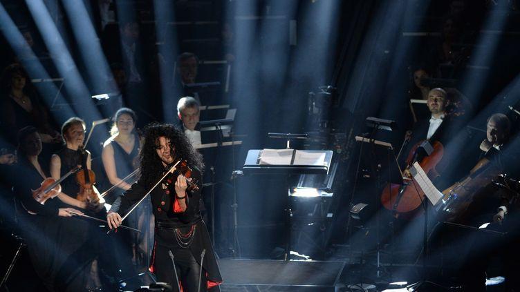 Nemanja Radulovic.lors des Victoires de la musique classique 2014.  (BORIS HORVAT / AFP)