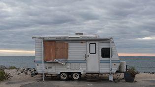 Katell et sa famille vivent dans un mobile home en Loire-Atlantique depuis trois ans. (Photo d'illustration) (JEROME GORIN / MAXPPP)