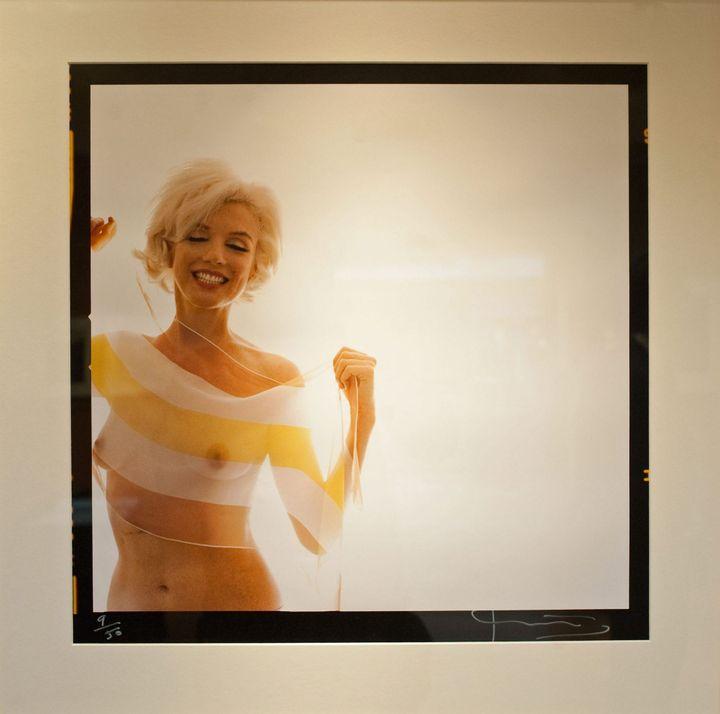 Une des dernières photographies de Marilyn Monroe prise par Bert Stern en juin 1962, six semaines avant la mort de l'actrice  (NATIONAL PICTURES/MAXPPP)
