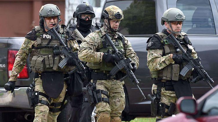 (La ville de Moncton était bloquée depuis mercredi par les forces de l'ordre © Andrew Vaughan/AP/SIPA)