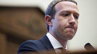Le fondateur de Facebook, Mark Zuckerber, le 23 octobre 2019 lors de son audition par les parlementaires américains à Washington. (MAXPPP)