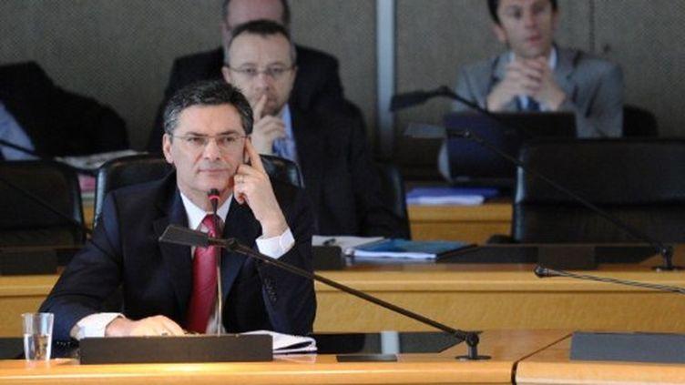 Patrick Devedjian au conseil général des Hauts-de-Seine à Nanterre le 31-3-2011 (AFP - MIGUEL MEDINA)