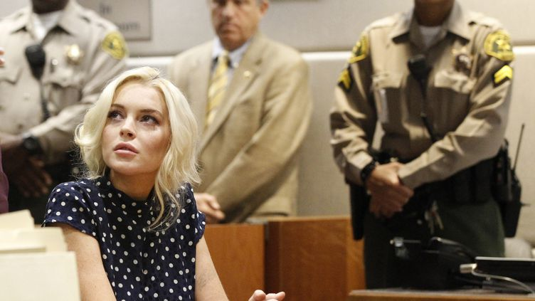 L'actrice Lindsay Lohan pendant son procès au tribunal de Los Angeles le 2 novembre 2011. (MARIO ANZUONI / REUTERS)