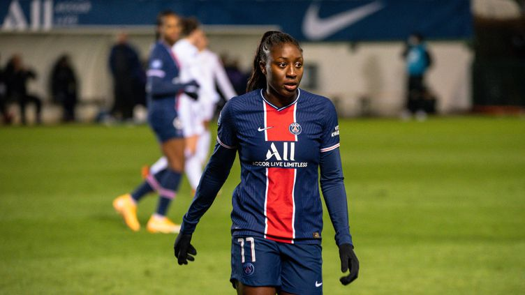 La Parisienne Kadidiatou Diani a inscrit un doublé contre Issy. (ANTOINE MASSINON / A2M SPORT CONSULTING)