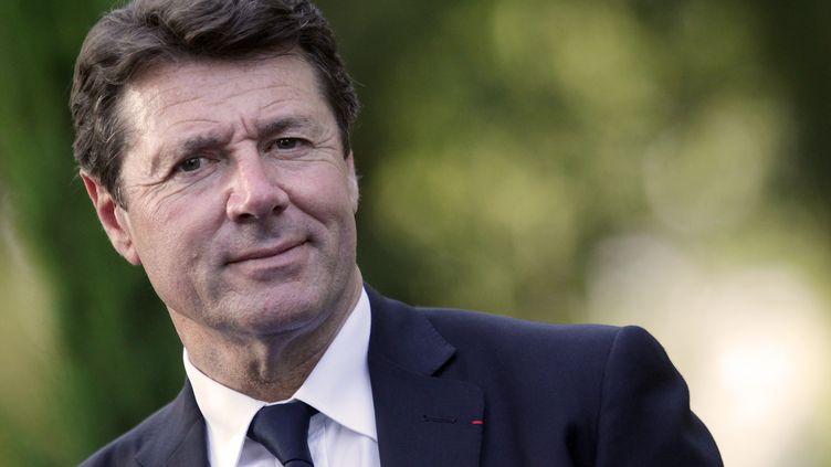 Le député-maire UMP de Nice, Christian Estrosi, le 14 juin 2013, lors d'un meeting de l'ancien Premier ministre, François Fillon, à Mandelieu-la-Napoule (Alpes-Maritime). (JEAN-CHRISTOPHE MAGNENET / AFP)