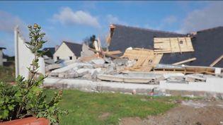 Tempête Aurore : la commune de Plozévet touchée par une tornade. (FRANCE 2)