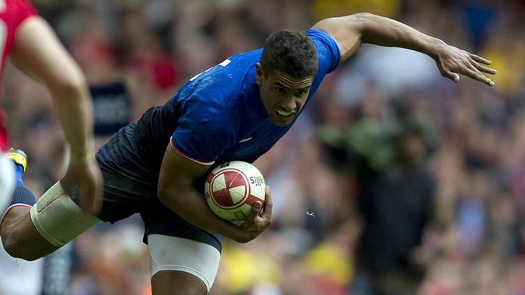 Wesley Fofana tente de s'échapper (ADRIAN DENNIS / AFP)