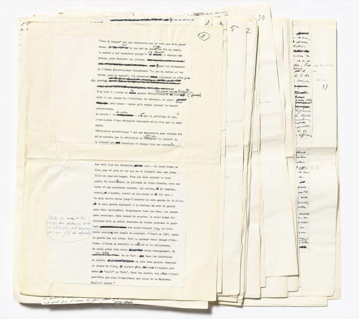Jean Genet. Permière version d'Un captif amoureux (1980). Archives Jean Genet / IMEC. (© MICHAEL QUEMENER)