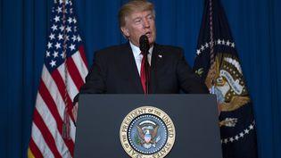 Donald Trump, le 6 avril 2017. (JIM WATSON / AFP)