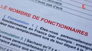 """Le sondage d'""""Envoyé spécial"""". (FRANCE 2 / FRANCETV INFO)"""