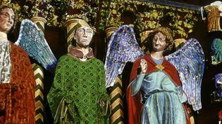 Jeux de lumières sur l'Ange au sourire pour les 800 ans de la cathédrale en 2011  (PHOTOPQR/L'UNION DE REIMS/Christian LANTENOIS)