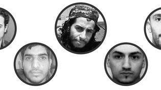 Abdelhamid Abaaoud (au centre) est l'organisateur présumé des attentats de Paris du 13 novembre 2015. (FRANCETV INFO)