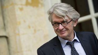 Le secrétaire général de Force ouvrière, Jean-Claude Mailly, quitte l'hôtelMatignon, le 13 mai 2013. (LCHAM / SIPA)