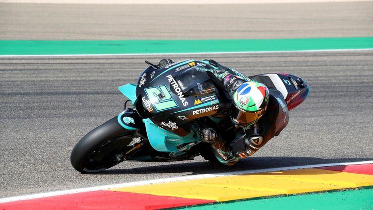 Franco Morbidelli, le pilote Yamaha Petronas et coéquipier de Fabio Quartararo. (JAVIER CEBOLLADA/EFE/SIPA / EFE)