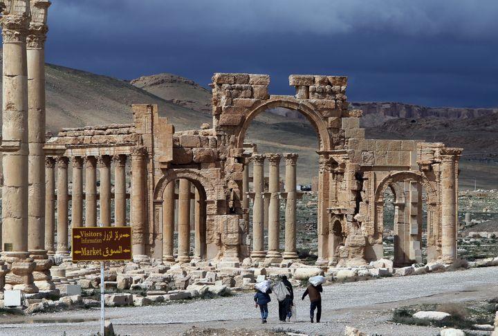 La cité antique de Palmyre (Syrie), le 14 mai 2014. (JOSEPH EID / AFP)