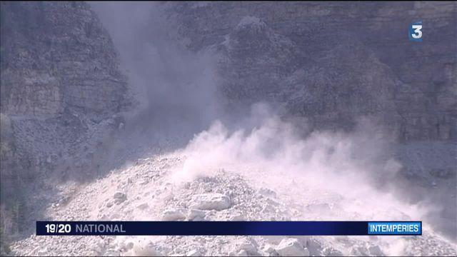 Isère : d'impressionnantes coulées de pierres