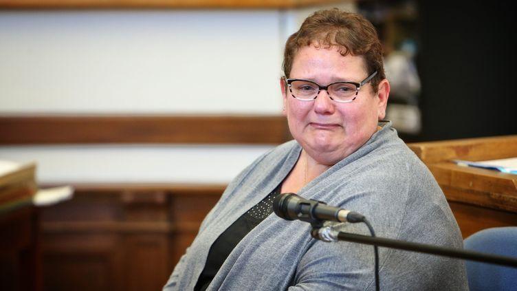 Dominique Cottrez,au premier jour de son procès devant la cour d'assises du Nord, le 25 juin 2015. (MAXPPP)