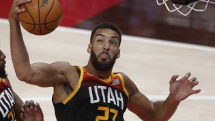 Rudy Gobert (Utah Jazz à contre les Portland Trail Blazers, le 12 mai 2021. (GEORGE FREY / AFP)