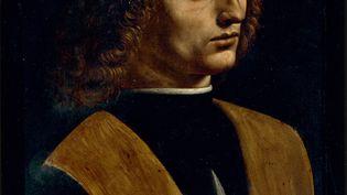 """Léonard de Vinci, """"Portrait de jeune homme tenant une partition"""", dit """"Le Musicien"""" (détail) (© Veneranda Biblioteca Ambrosiana)"""